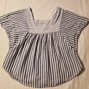 Madewell Butterfly Top in Stripe Play - Large